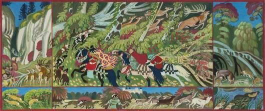 janusz-towpik-hunting-for-deer-tapestry-design-priv-coll